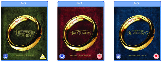 The lord of the rings: the motion picture trilogy blu-ray.