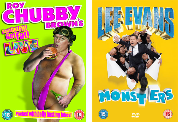 Win Lee Evans and Chubby Brown's new comedy DVDs!
