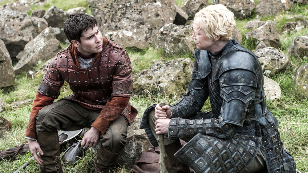 Game of Thrones 5 Podrick and Brienne of Tarth