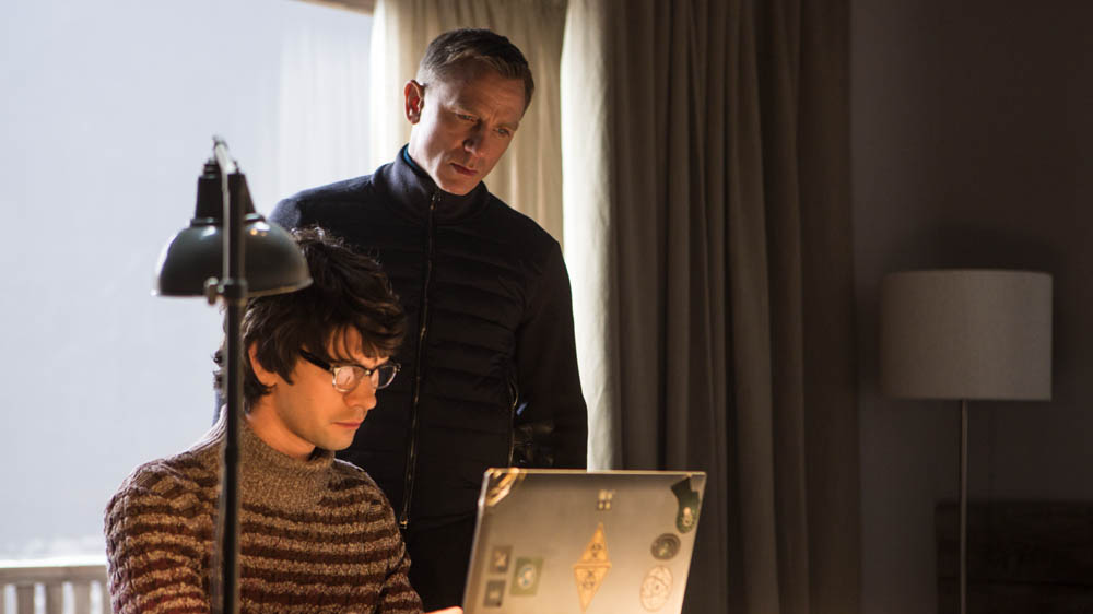 SPECTRE Ben Whishaw and Daniel Craig