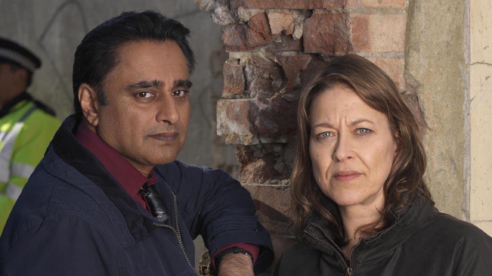 Unforgotten NICOLA WALKER as DCI Cassie Stuart and SANJEEV BHASKAR as DS Sunil Khan