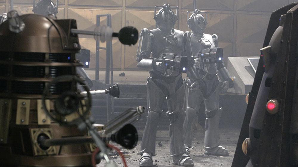 Doctor Who Daleks v Cybermen Doomsday