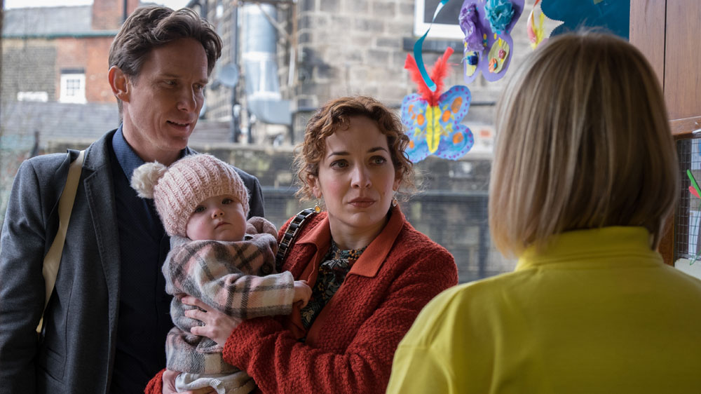 In the Club 2 6 Neil (JONATHAN KERRIGAN), Baby Mary (AYRA/NYAH CHADWICK), Kim (KATHERINE PARKINSON),