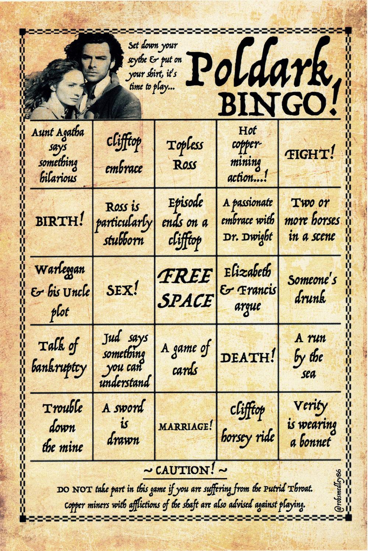 Poldark Bingo 2