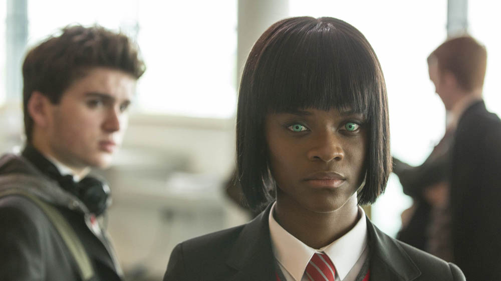 Humans 2 4 Toby (Theo Stevenson) and Renie (Letitia Wright)