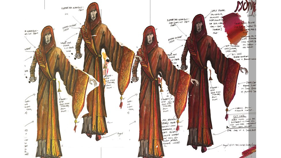 Monks Production Art Doctor Who Extremis