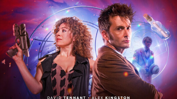 Tenth Doctor and River Song Boxset Cover Art