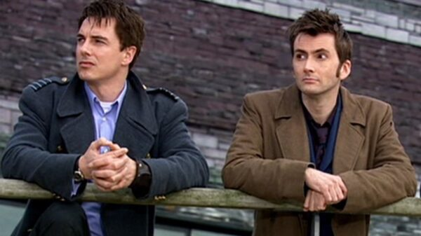 Captain Jack and the Tenth Doctor reunited
