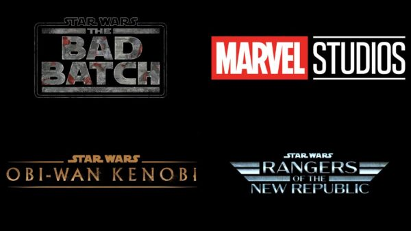 Disney plus logos star wars and marvel