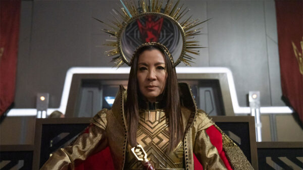 Michelle Yeoh as Emperor Georgiou from Star Trek: Discovery S3 Ep 9